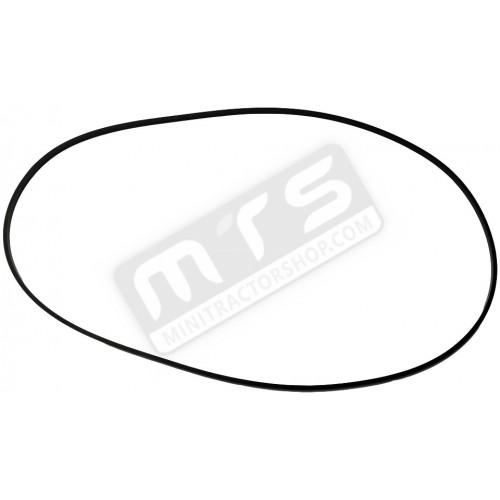 V-belt flail mower