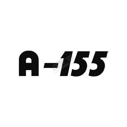 sticker bonnet 1 item Kubota Aste A-155