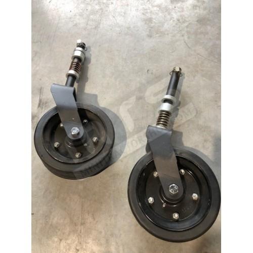 Rotary mower wheels