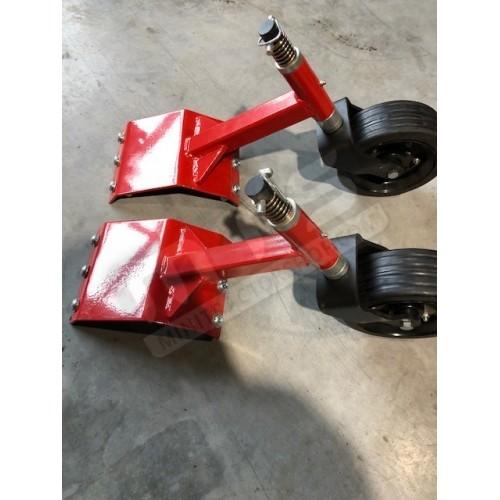 Running wheel flail mower