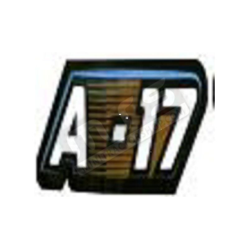 sticker bonnet 1 item Kubota Aste A-17