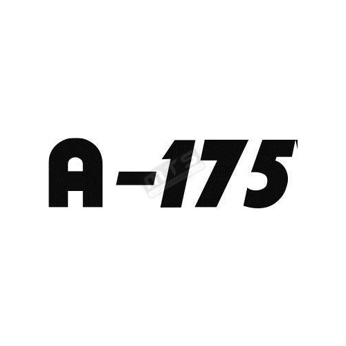 sticker bonnet 1 item Kubota Aste A-175