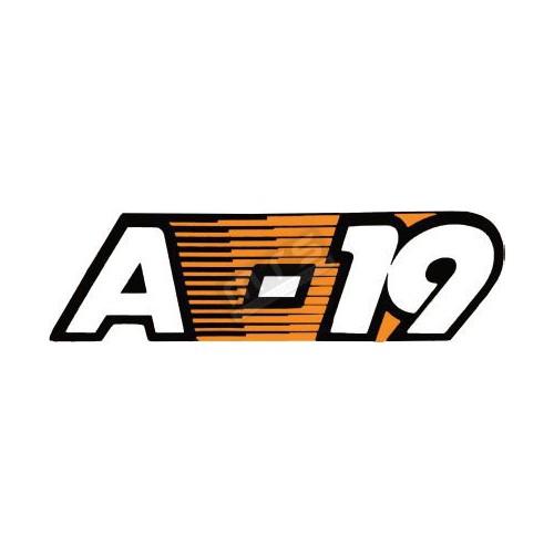 motorkap sticker Kubota Aste A-19