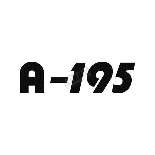 sticker bonnet 1 item Kubota Aste A-195