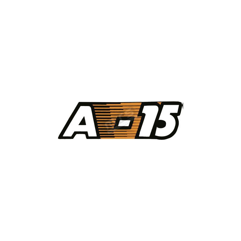 sticker bonnet 1 item Kubota Aste A-15
