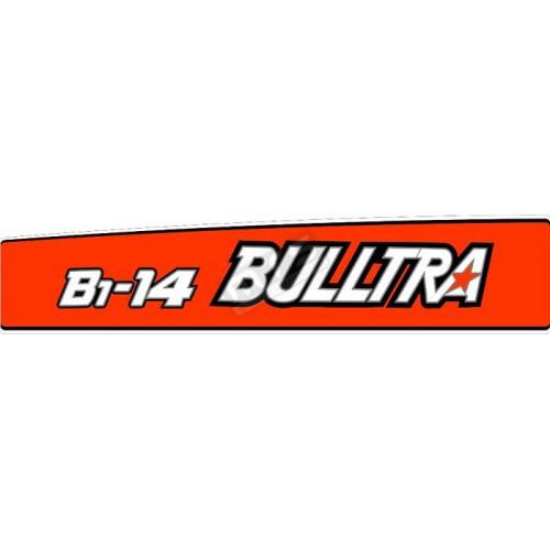 motorkap sticker kubota Bulltra B1-14