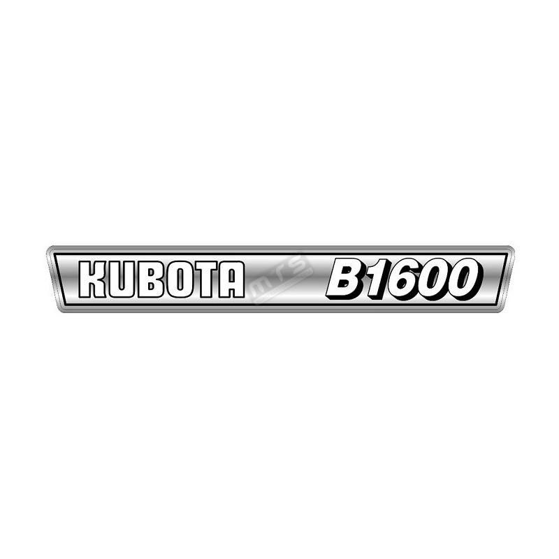 motorkap sticker Kubota B1600