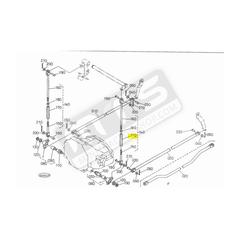 brems ventil abstandhalter original Kubota