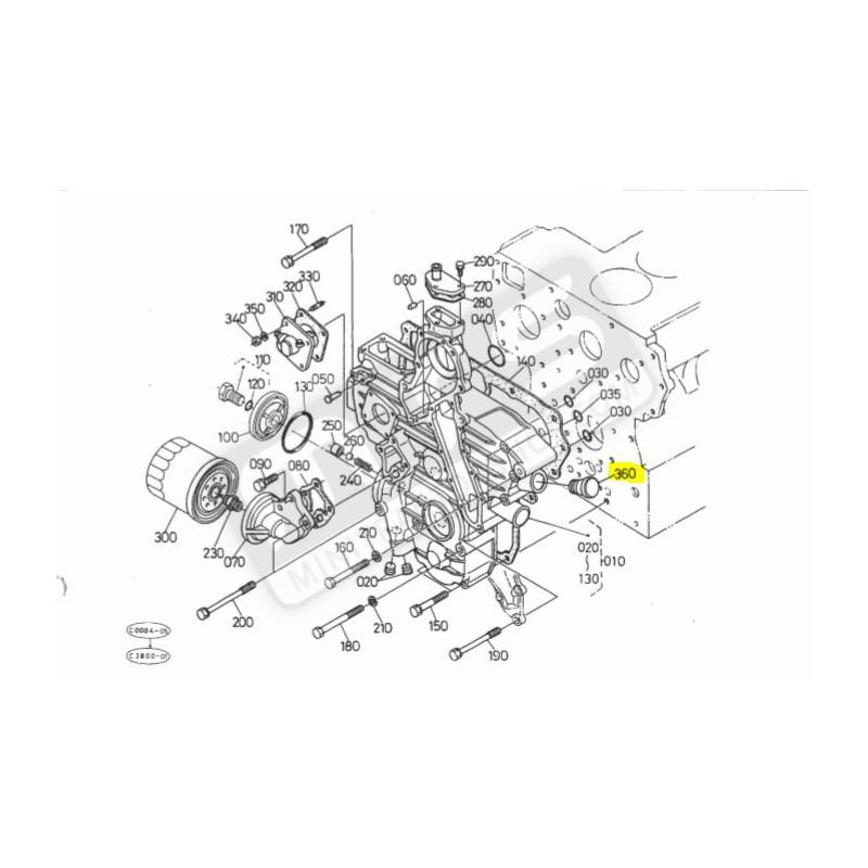 cap oil engine original Kubota