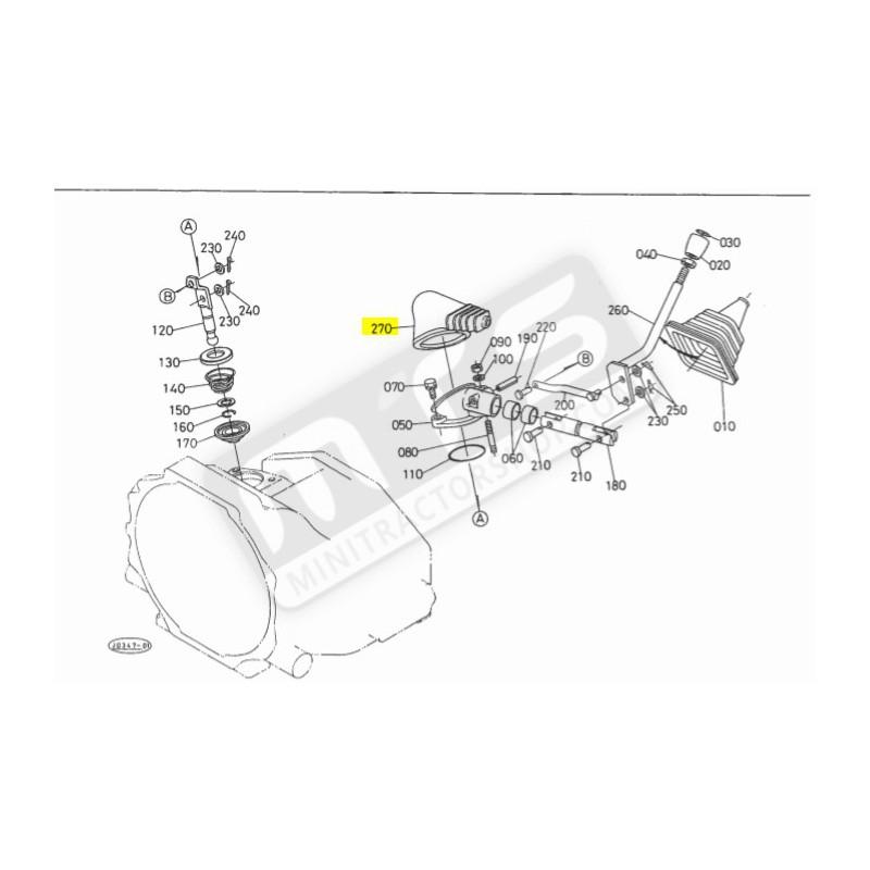 cover main speed change gear shift original Kubota